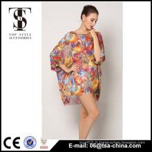 Robe en mousseline de soie 2016 pour femme Fat Women Robes Beachwear les plus populaires