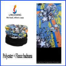 LINGSHANG paisley bandana tubular bandana polar fleece multifunctional bandana