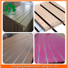 18mm 15mm Melamine Slatwall Slot Board MDF Display with Aluminum