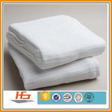 Baumwolle thermische zellulare weiße Webart Leno Krankenhausdecke