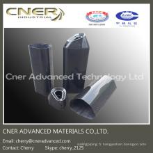 Silencieux / tuyau d'échappement en fibre de carbone de haute résistance, pièces en fibre de carbone