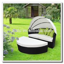 Audu White Cushion Gazebo Mobília de jardim exterior mobiliário de jardim (ADC14088)