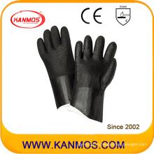 Кислотоупорные ПВХ окунутые промышленные рабочие перчатки безопасности (51208SP)