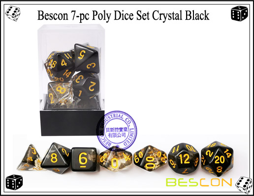 Crystal Black Dice Set-4