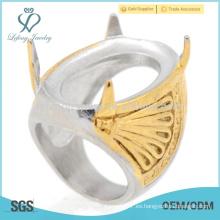 Estilo de Indonesia corte de láser anillos de boda para los hombres le prometen