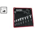 Fixtec Hand Tools 8PCS Carbon Steel Double Open End Spanner Set