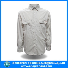 Custom Design Long Sleeve Plain Cheap Cotton Men Shirts
