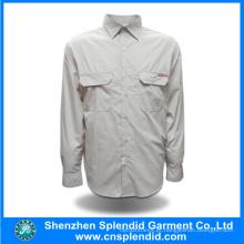 Novo design de camisa de algodão casual de manga longa moderna para homens