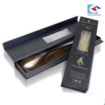 carton d'emballage de cheveux de luxe avec son propre logo