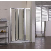 Tempered Glass Shower Door with Two Inline (WA-IB090)