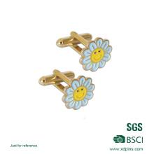 Lindo regalo personalizado forma de flor gemelos enlace