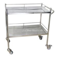 Chariot médical de chariot d'instrument d'hôpital avec 2 couches