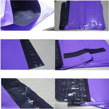 Sac adhésif non intermédiaire de vêtement rouge / courrier en plastique