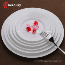 Wholesale white crockery ceramic flat plate