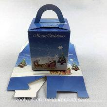 Die-Cut Papel Dobrável De Papel Embalagem Caixa De Presente De Natal