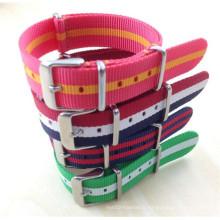 Yxl-782 2016 Nouveau bracelet de bracelet en nylon à poignet coloré changeable de grande qualité Bracelet en acier inoxydable 18mm 20mm Nato Watch Band