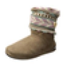 Женские носки теплее вязать-манжеты Slipper Bootie противоскольжения с кнопкой
