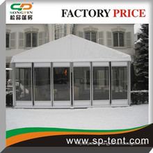 Clear Party marquee tent with glass wall and glass door 20x30m for 400 people seated