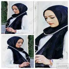 Moda em breve hijab cachecol dubai algodão pérola e cadeia hijab muçulmano