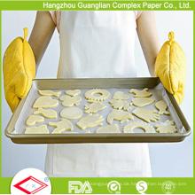 45 x 75cm doppelseitiges silikonisiertes Backpapier von der Fabrik