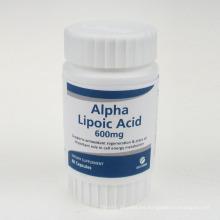 Cápsulas de ácido alfa lipoico antioxidante 600 mg