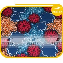 Precio directo de fábrica diseño único Africana telas de ankara tejida cera tela de poliéster impresa FEITEX