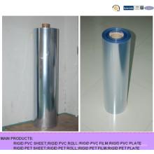 Película rígida súper transparente de PVC para embalaje de blíster