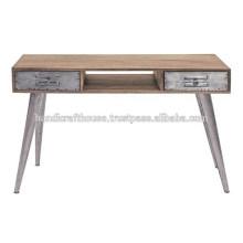 Industrial Mango Holz und Metall Beine 2 Konsolentisch
