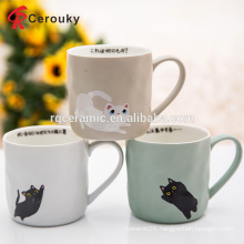 Factory custom EU standard 11oz decal printing porcelain milk mug