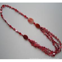 Long Multi signifie collier de perles de cristal