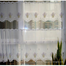 Cafe Curtain Embroidery Lavender Design Light Purpule Color St115