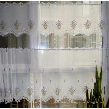 Cor clara St115 do Purpule do projeto da alfazema do bordado da cortina do café