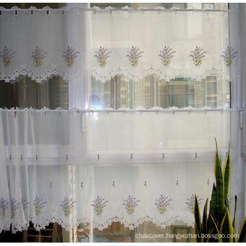 Cafe Curtain Embroidery Lavender Design Light Purpule Color St115