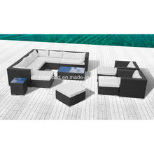 Outdoor Rattan Sofa Sets for Living Room / Garden with Aluminum Frame / SGS (9502P)