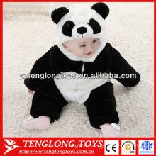 Китай сокровищ панда стиль милые одежды baby rompers мягкие baby rompers