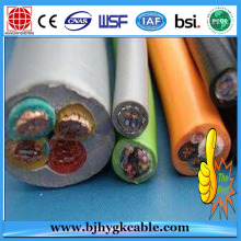 450 / 750V Isolamento de borracha natural Aramid Rope Lift Cable