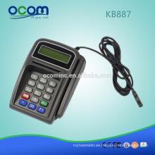 Mini teclado numérico programable KB887 del teclado con el lector de tarjetas magnético lector de tarjetas magnético