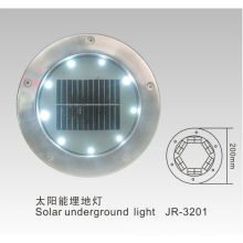 Round solar brick light, solar underground lights, waterproof solar brick lights