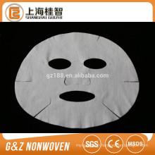 feuilles de masque facial microfibre non-tissé 60gsm couleur blanche hotsale