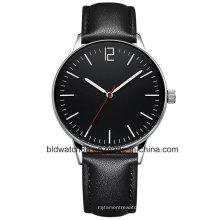 Homens de relógio de pulso personalizado de aço inoxidável de volta qualidade superior