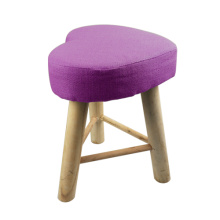purple polyester wood stools