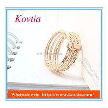 Latest designs gold stackable ring