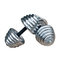 Hotsale Sport 10kg 20kg 30kg Ajustável Chrome Dumbbell Set