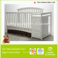 fashion Design Solid Pine Wood Baby Crib/Bed