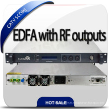 Amplificateur de fibre CATV DWDM EDFA avec entrée RF