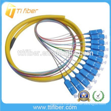 12Core Fiber Optic Bundle Pigtails SC/UPC with Differnt Length