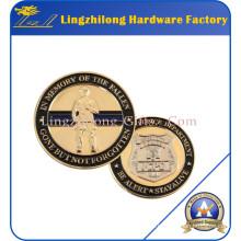 Dos monedas de oro de diseño de acabado