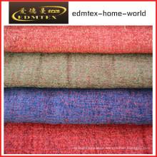 Tecido liso do Chenille para a embalagem do sofá nos rolos (EDM0241)