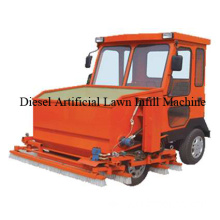 Artificial grass install machine