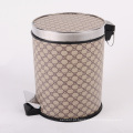 Round Luxury Design Leatherette pedal lata de lixo (A12-1901A)